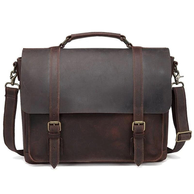 top goldman Tivoli Vintage Leather Messenger Bag