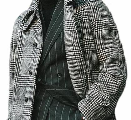 Tivoli Wool Coat overcoats for men Gray XXXL
