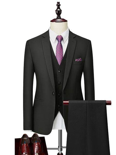 topman topgoldman boss luxury elegant business suits-Black-5XL