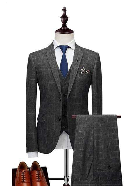 topman topgoldman boss luxury elegant business suits-Gray-XL