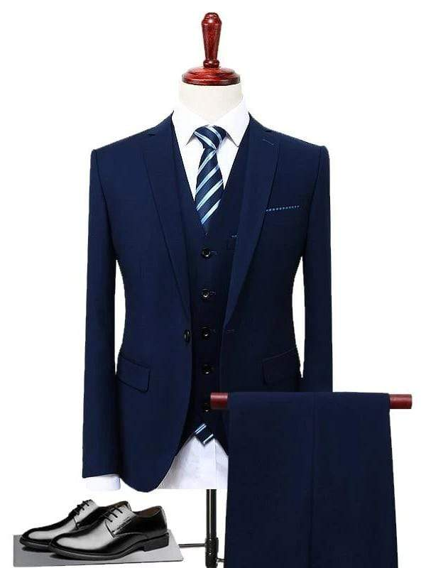 topman topgoldman boss luxury elegant business suits-Blue-S