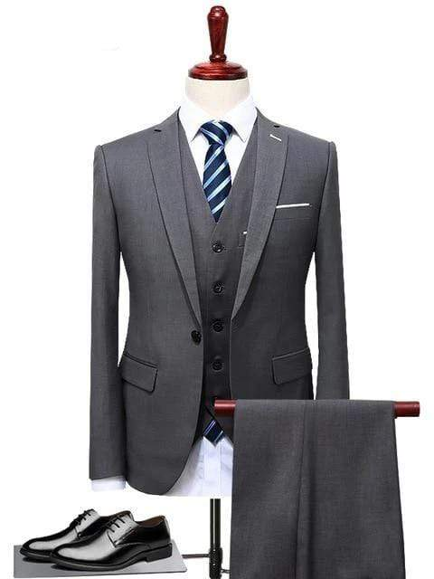 topman topgoldman boss luxury elegant business suits-Gray-S