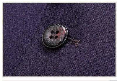 3 Pieces Purple Wool Casual Business Suit
