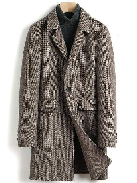 Belluno Wool Overcoat winter coat jacket for men Camel