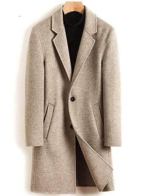 Rovigo Wool Overcoat winter coat jacket for men Light camel