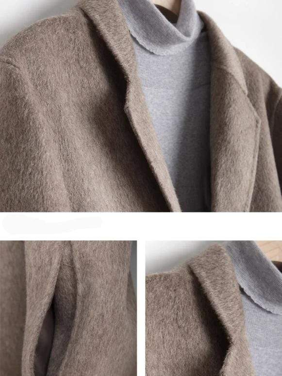 Torcello Cashmere Wool Coat winter coat jacket for men Dark brown