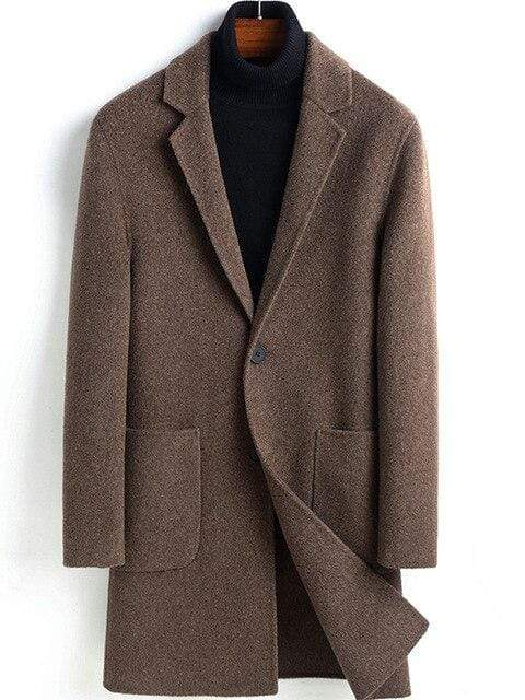 Vicenza Cashmere Wool Coat winter coat jacket for men Coffee