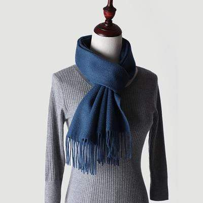 topman topgoldman boss luxury elegant scarf scarves for men-Blue 1-180-30 cm