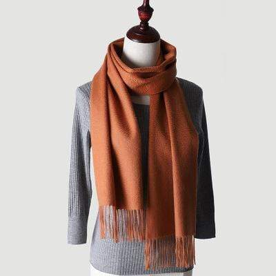 topman topgoldman boss luxury elegant scarf scarves for men-caramel colour-180-30 cm