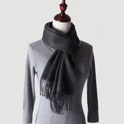 topman topgoldman boss luxury elegant scarf scarves for men-carbon Gray-180-30 cm