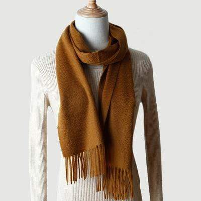topman topgoldman boss luxury elegant scarf scarves for men-Gold Camel-180-30 cm