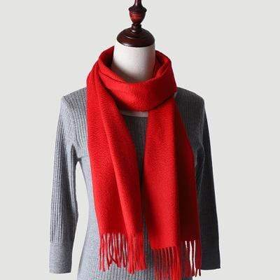 topman topgoldman boss luxury elegant scarf scarves for men-Red-180-30 cm