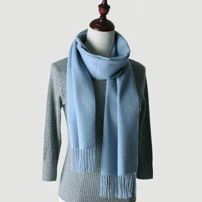 topman topgoldman boss luxury elegant scarf scarves for men-Water blue-180-30 cm