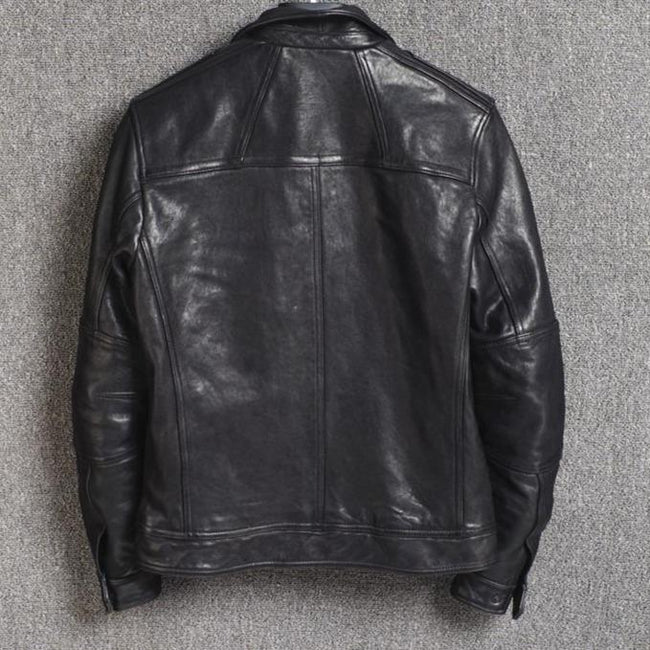 Corleone Genuine Leather Jacket real leather biker jacket for men Black
