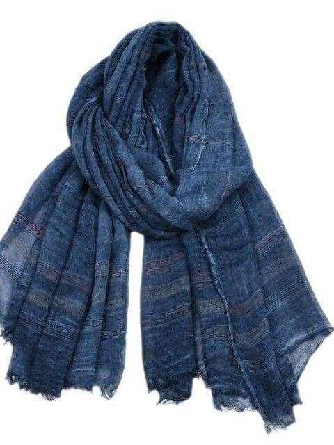 topman topgoldman boss luxury elegant scarf scarves for men-NAVY BLUE-90X190CM