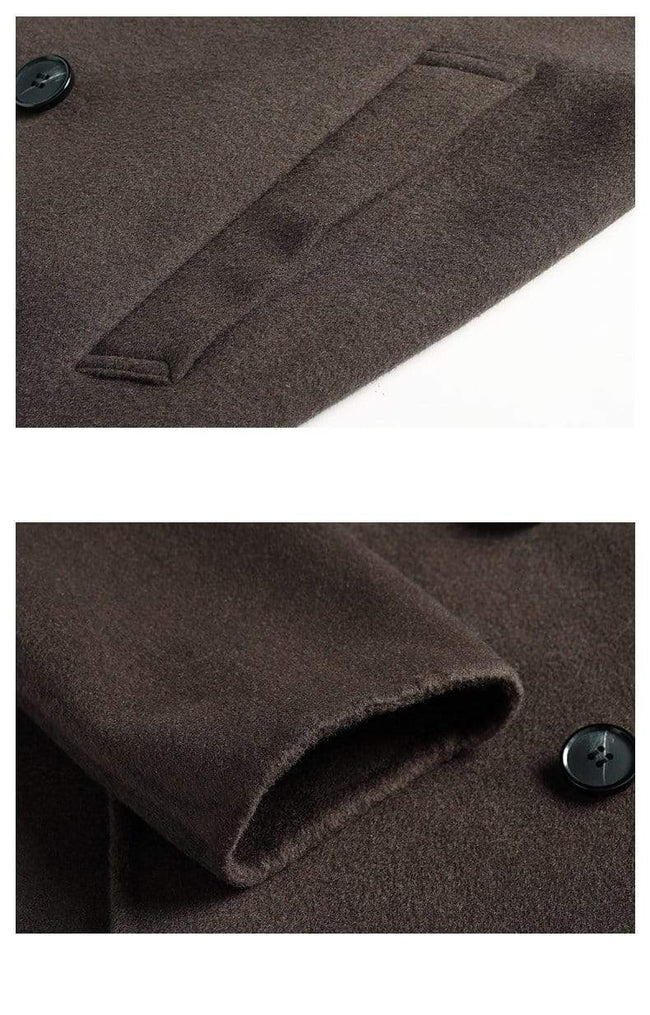 Vittoria Wool Overcoat winter coat jacket for men Brown gray