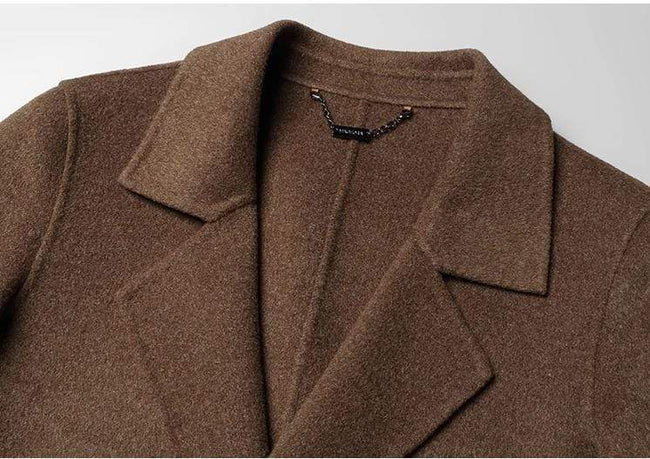 Volterra Wool Overcoat winter coat jacket for men Dark Brown