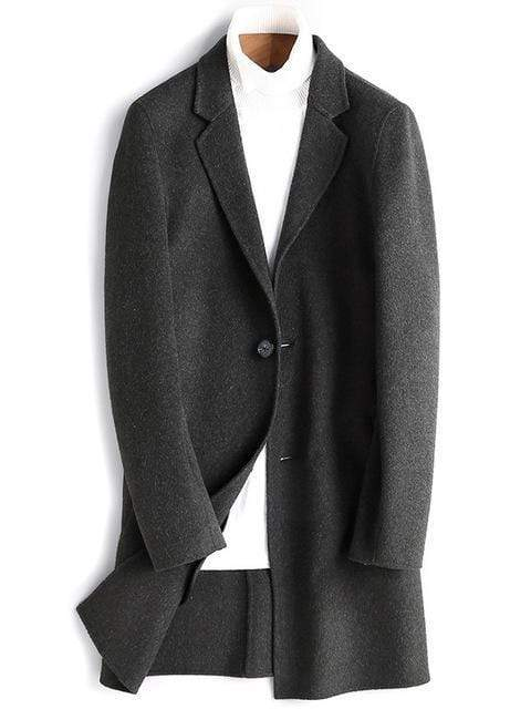 Benevento Wool Overcoat winter coat jacket for men black
