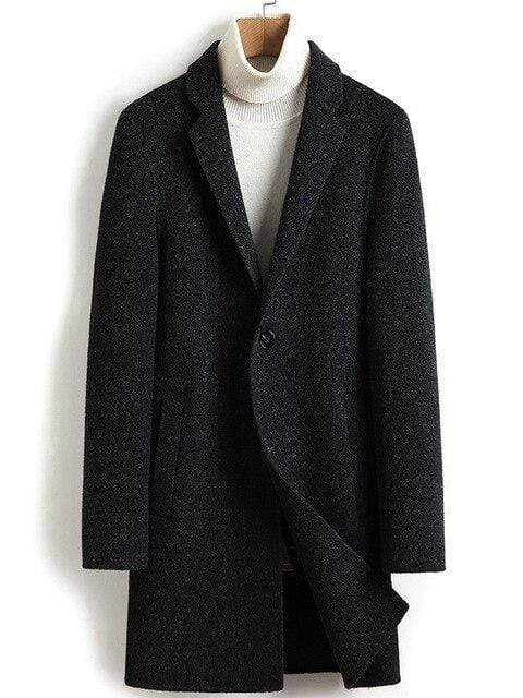 Veneto Cashmere Wool Coat winter coat jacket for men Black