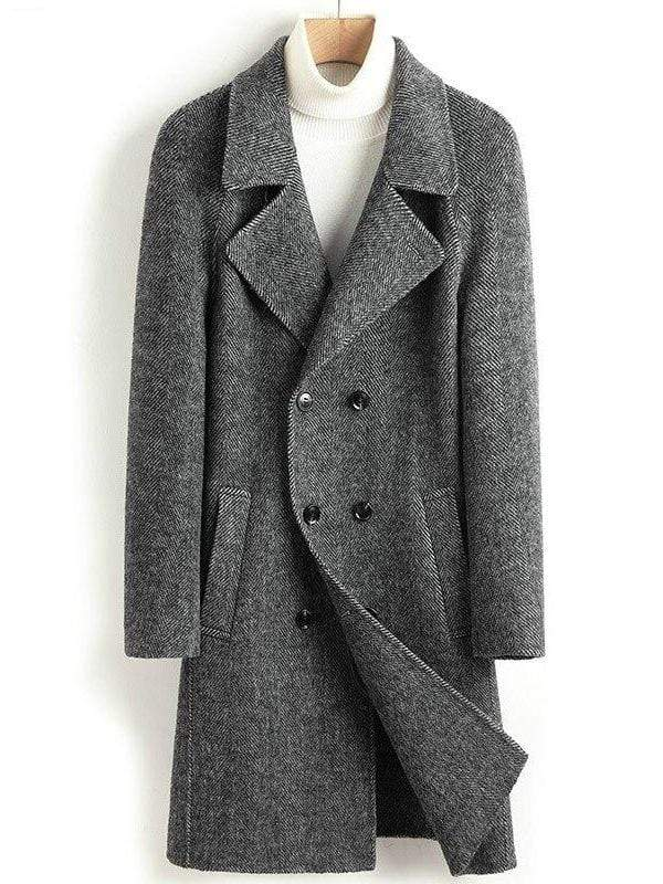 Treviso Cashmere Wool Coat winter coat jacket for men Dark gray