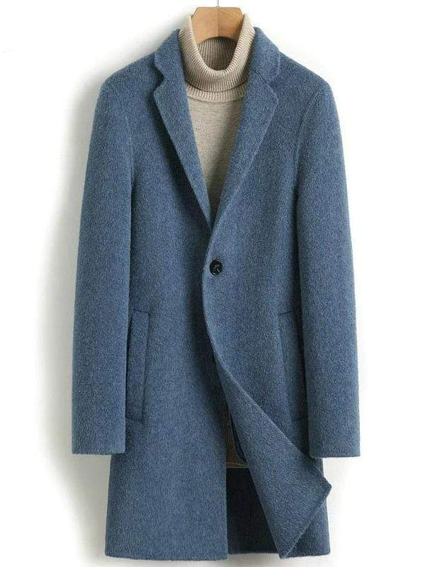 Veneto Cashmere Wool Coat winter coat jacket for men Grey