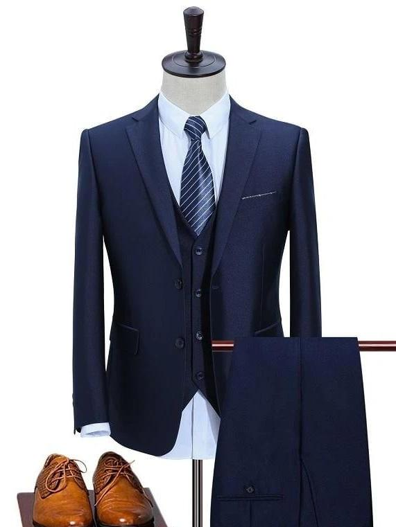 topman topgoldman boss luxury elegant business suits-Blue-XL