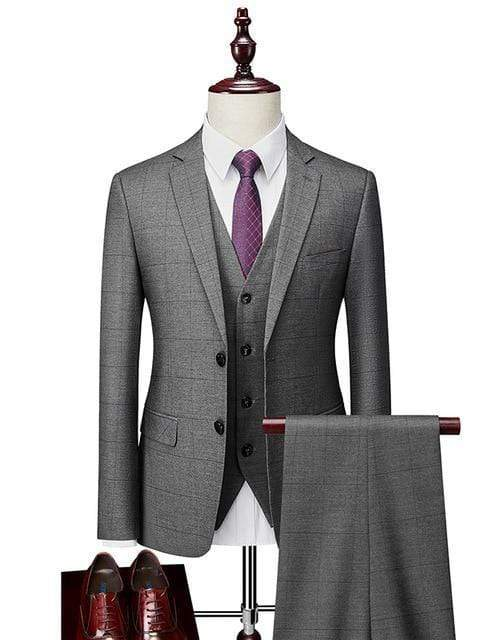 topman topgoldman boss luxury elegant business suits-Gray-L
