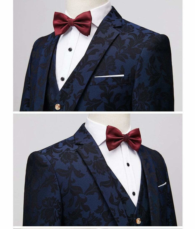 Elegant Wine Groomsmen Burgundy Wedding Suit