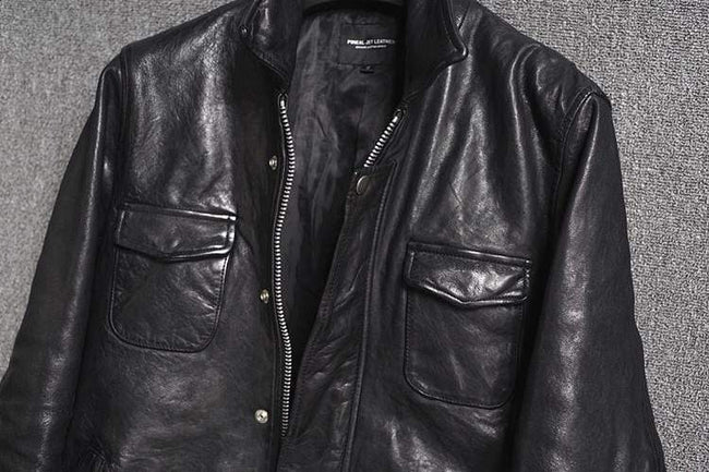 Genuine Leather Casual Jacket real leather biker jacket for men Red brown