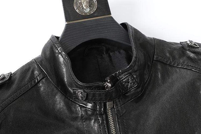 Genuine Leather Vintage Biker Motorcycle Jacket real leather biker jacket for men Black
