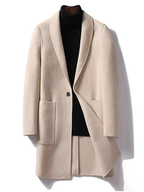 Giovanni Wool Overcoat winter coat jacket for men Beige