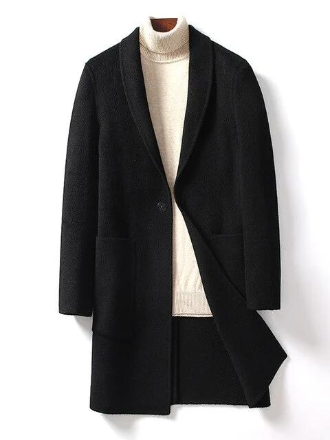 Giovanni Wool Overcoat winter coat jacket for men Black