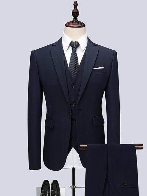 topman topgoldman boss luxury elegant business suits-dark blue-XL