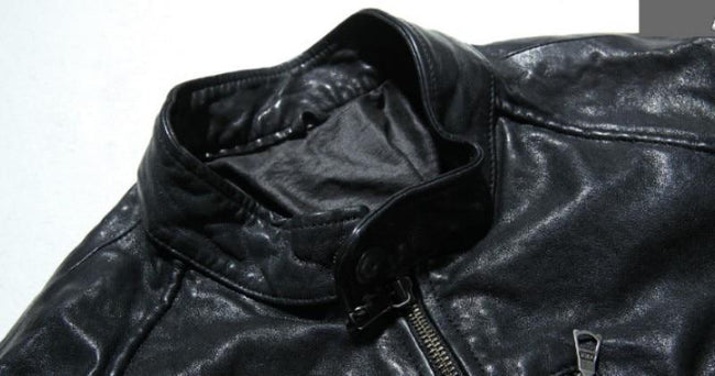 Marino Genuine Leather Jacket real leather biker jacket for men black