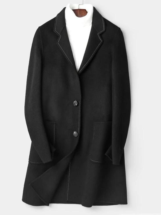 Marino Wool Overcoat winter coat jacket for men black