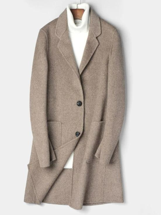 Marino Wool Overcoat winter coat jacket for men khaki