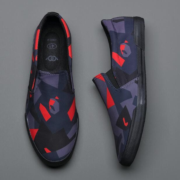 topgoldman-mens-Camouflage Slip-on Canvas Shoes-Black-7