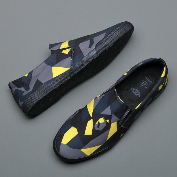 topgoldman-mens-Camouflage Slip-on Canvas Shoes-Yellow-7