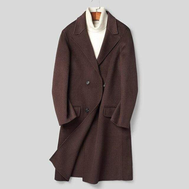 Taranto Wool Overcoat winter coat jacket for men Coffee