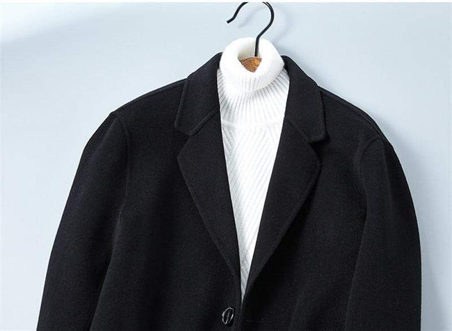 Rivoli Cashmere Wool Overcoat winter coat jacket for men Black