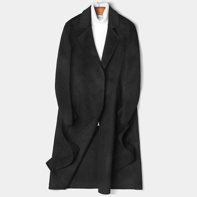 Monte Wool Overcoat winter coat jacket for men black