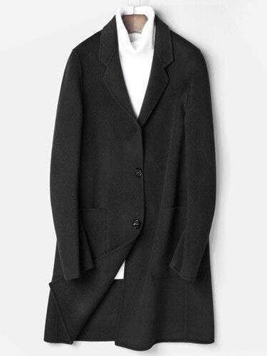 Porto Cashmere Wool Overcoat winter coat jacket for men Black