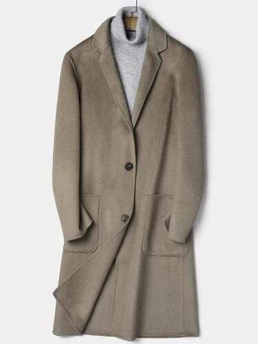 Porto Cashmere Wool Overcoat winter coat jacket for men Camel
