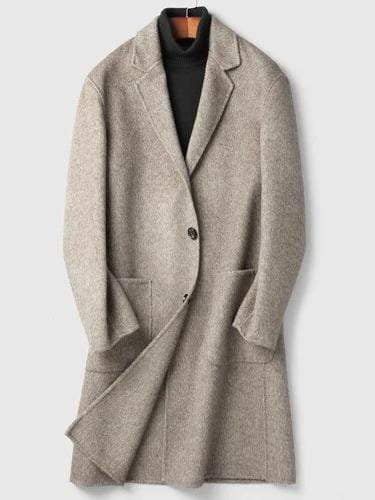 Porto Cashmere Wool Overcoat winter coat jacket for men Light grey