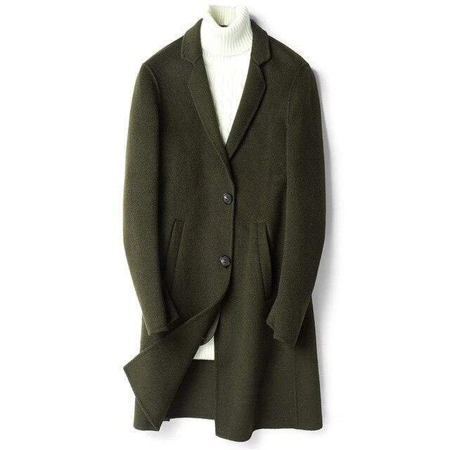 Agrigento Wool Overcoat winter coat jacket for men Army green