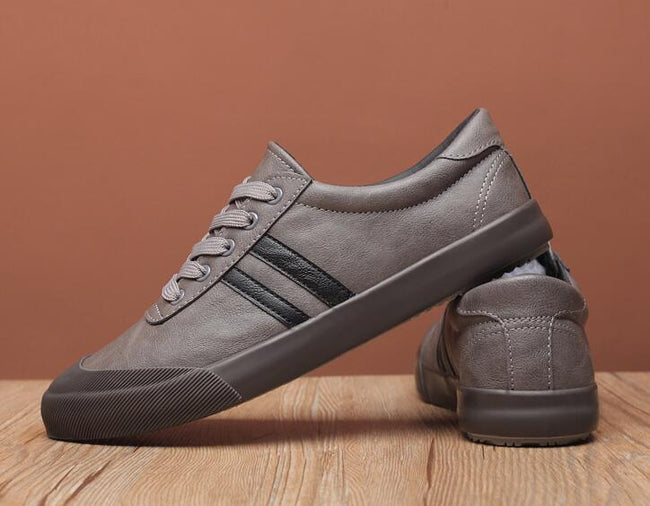 topgoldman-mens-Lace-up Leather Shoes-Gray-9