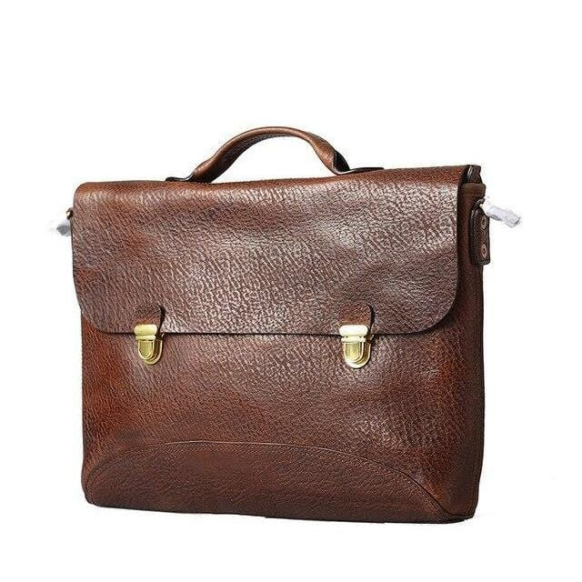 Men's Leather Briefcase Handbag