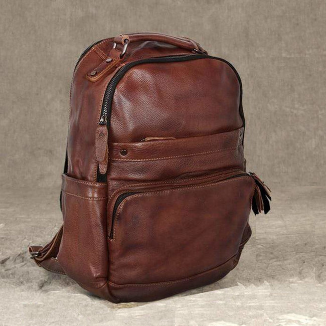 Men's Leather Backpack 15.6-inch