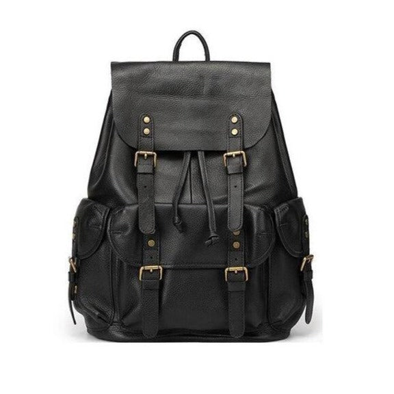 Men's Leather Travel Backpack