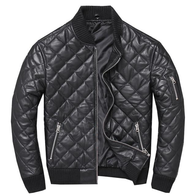 Merano Genuine Leather Jacket real leather biker jacket for men black